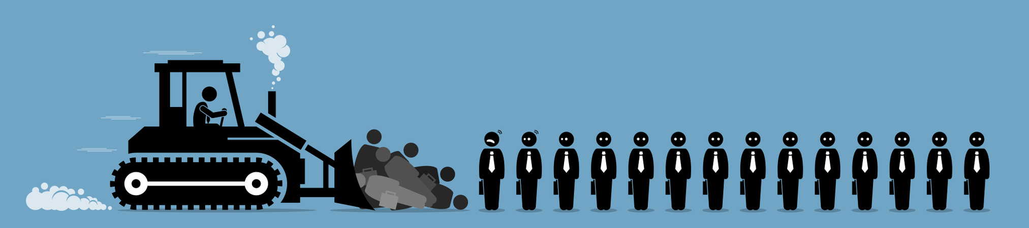 Retrenchment, company worker layoffs, and job cut Illustration