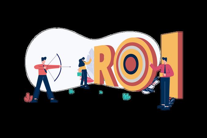 Return of Investment - ROI Illustration