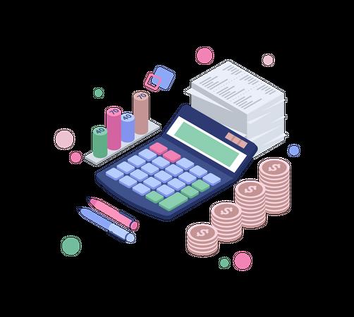 Revenue report Illustration