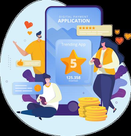 Review Application or Best User Feedback Illustration