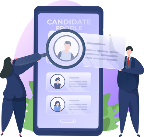 Review Candidate Profile Illustration