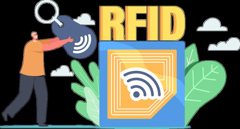 Rfid Scanner Illustration