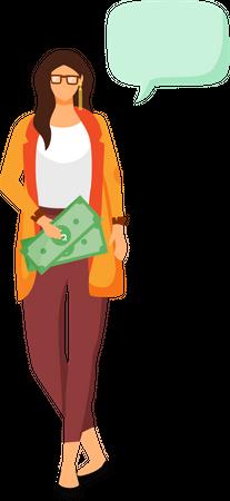 Rich woman Illustration
