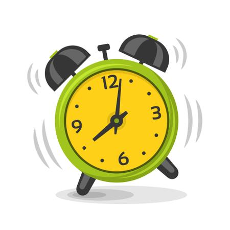 Ringing alarm clock with two bells Illustration