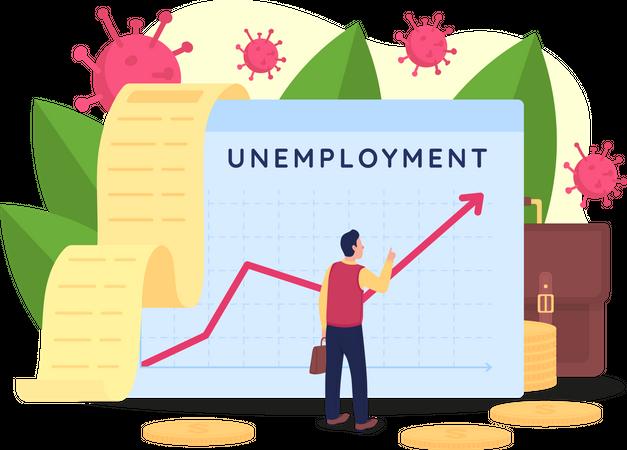 Rising unemployment rate Illustration