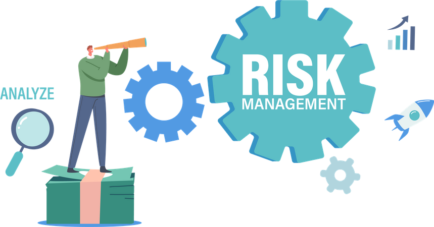 Risk Management Inscription Illustration
