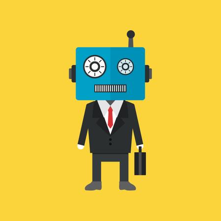 Robot Businessman In Uniform Illustration