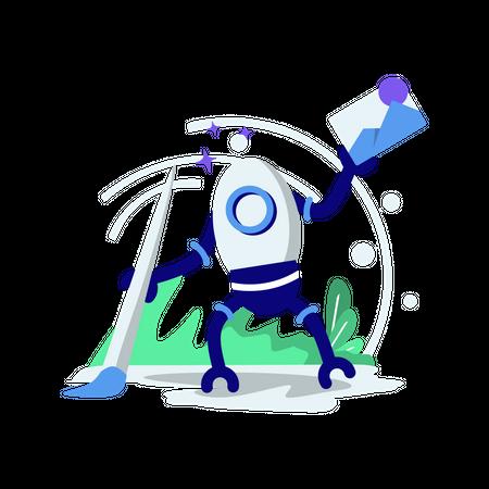 Robot cleaning data Illustration