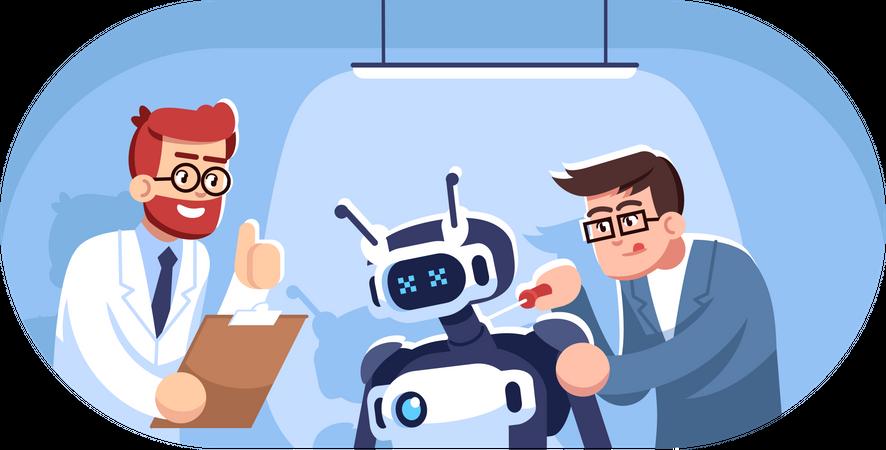 Robot creation Illustration