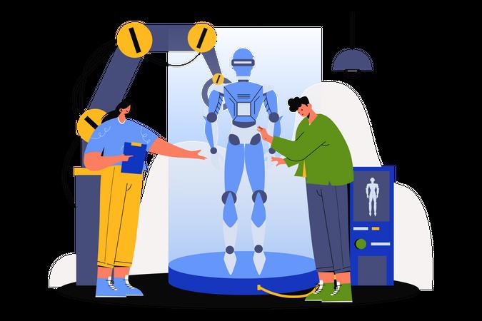 Robotic Artificial Intelligence Illustration
