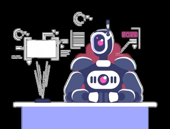 Robotic Boss Illustration