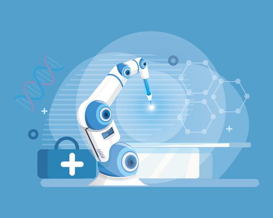 Robotic surgery Illustration