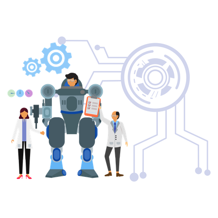 Robotic technology Illustration