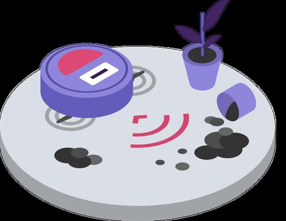 Robotic vacuum cleaner Illustration