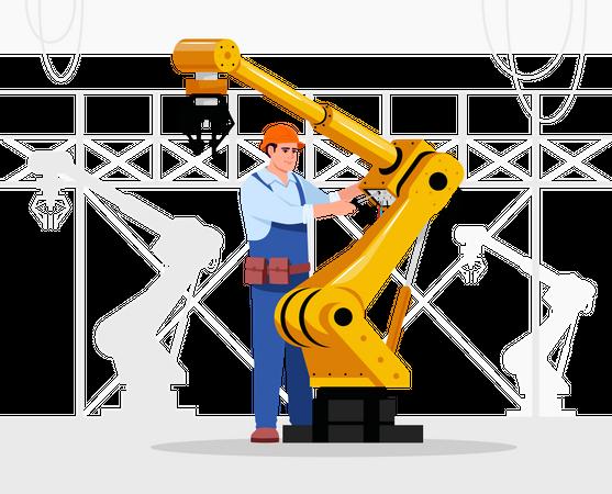 Robotics expert Illustration