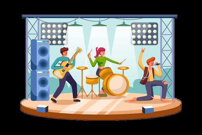 Rock Concert Illustration