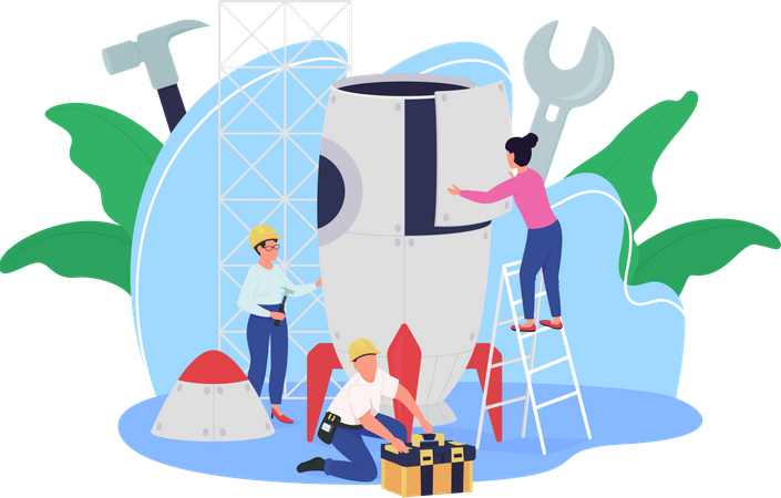 Rocket building facility Illustration