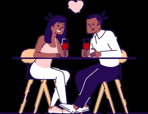 Romantic date Illustration
