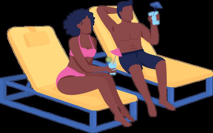 Romantic getaway Illustration