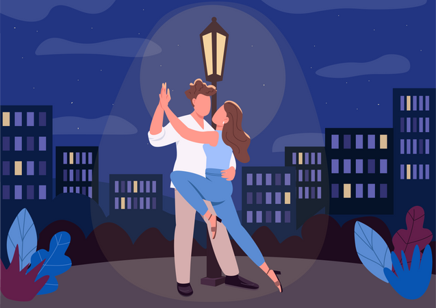 Romantic night Illustration