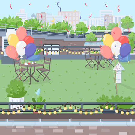 Rooftop party Illustration