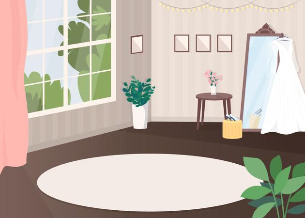 Room for wedding preparation Illustration