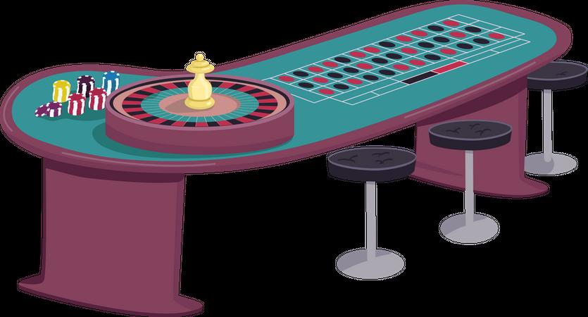 Roulette table Illustration