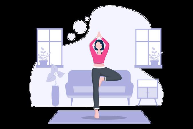 Routine Exercise Illustration