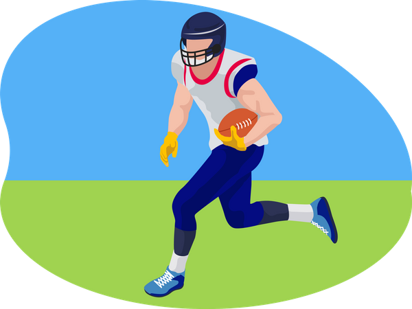 Rugby football Illustration