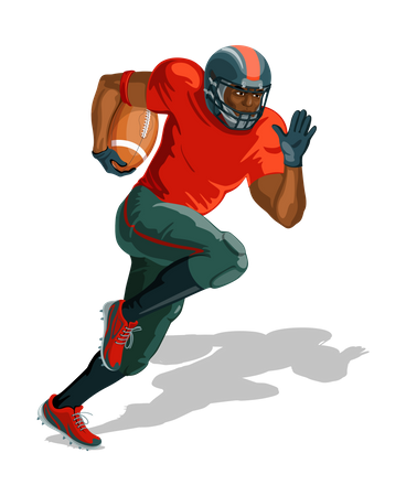 Rugby player Illustration