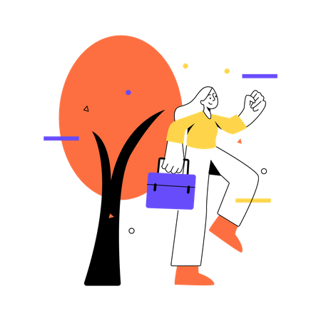 Running for work Illustration