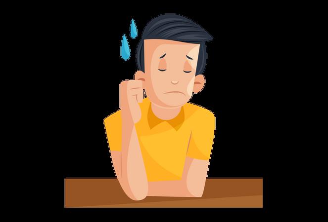 Sad Laboratory boy Illustration