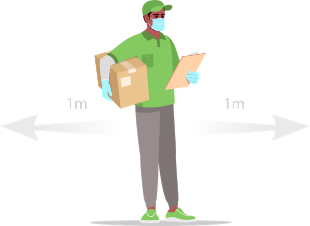 Safe delivery during pandemic Illustration