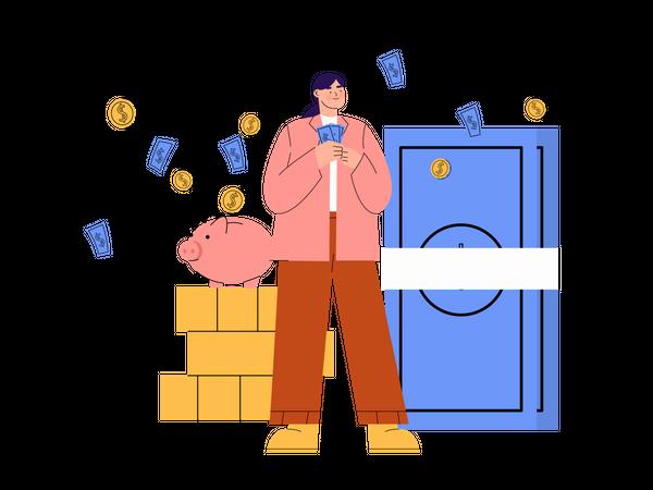 Safe deposit Box Illustration