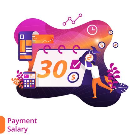 Salary day Illustration