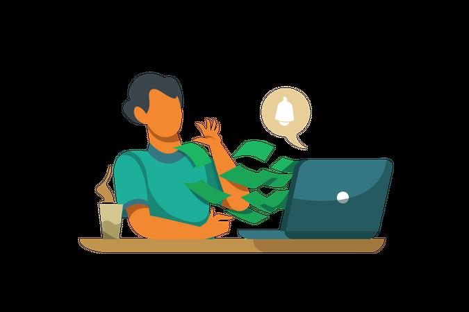 Salary notification Illustration