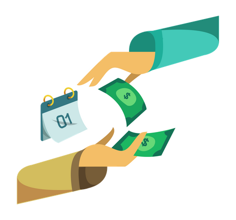 Salary payment Illustration
