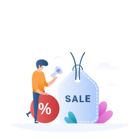 Sale And Offers Illustration