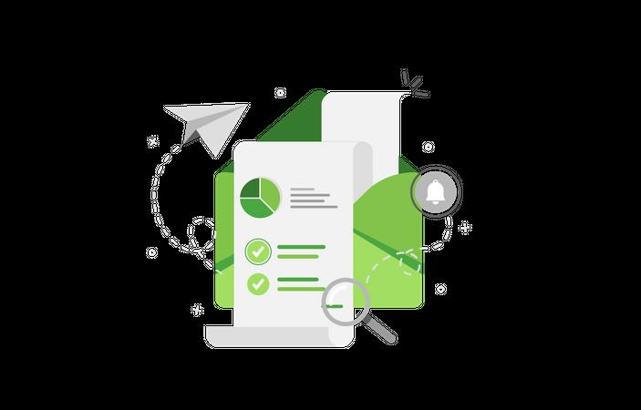 Sales analytics Illustration