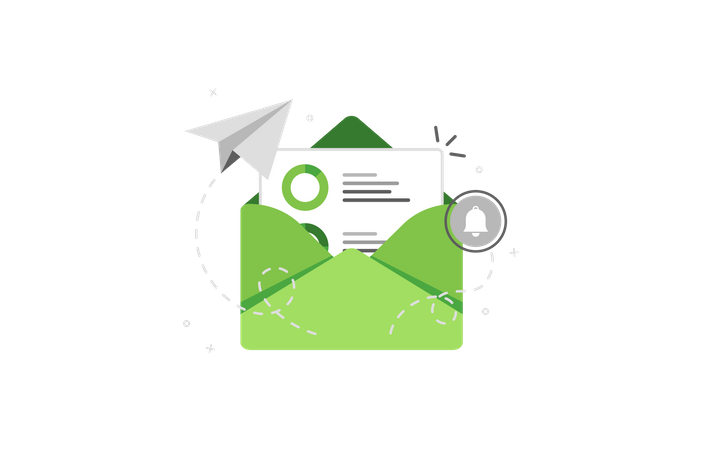 Sales analytics envelope Illustration