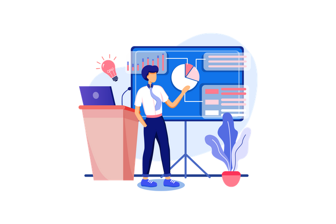 Sales Improvement idea Illustration