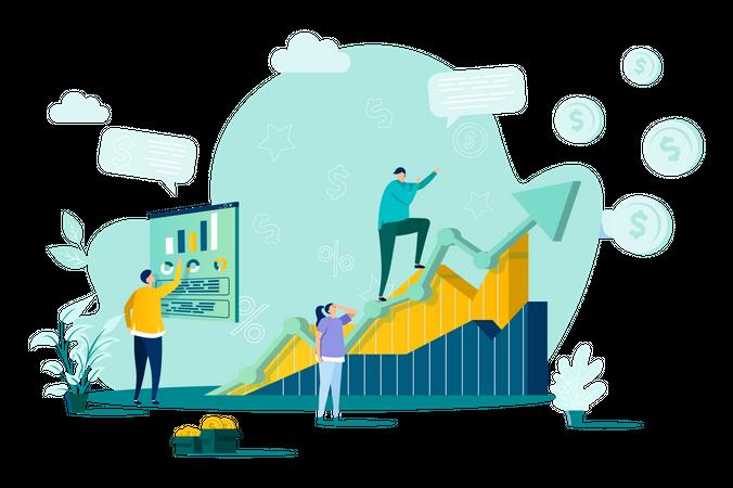 Sales management Illustration
