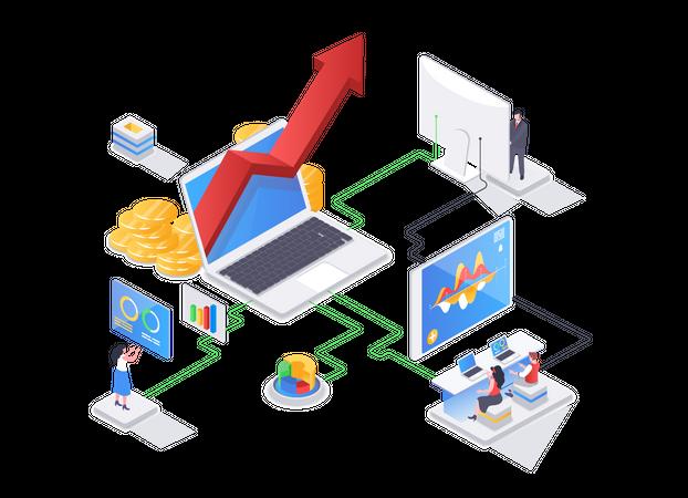 Sales management service Illustration