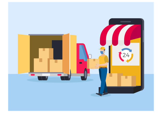 Same day delivery Illustration