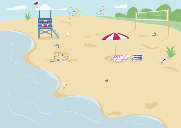 Sand beach Illustration