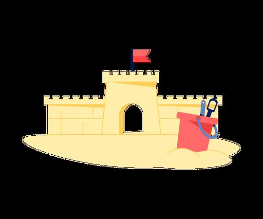 Sand Castle Illustration