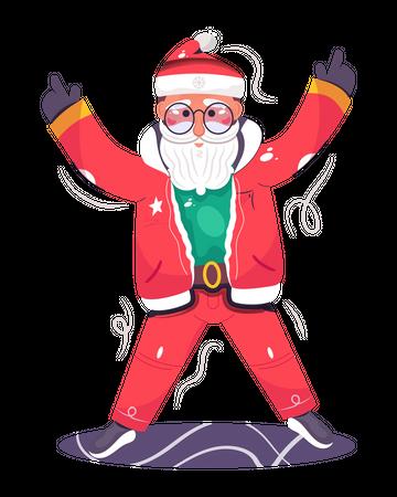 Santa Claus celebrating the Christmas Illustration