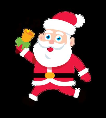 Santa Claus playing bell Illustration