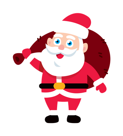 Santa Claus with gift bag Illustration