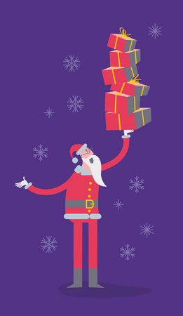 Santa Claus With Gifts Illustration